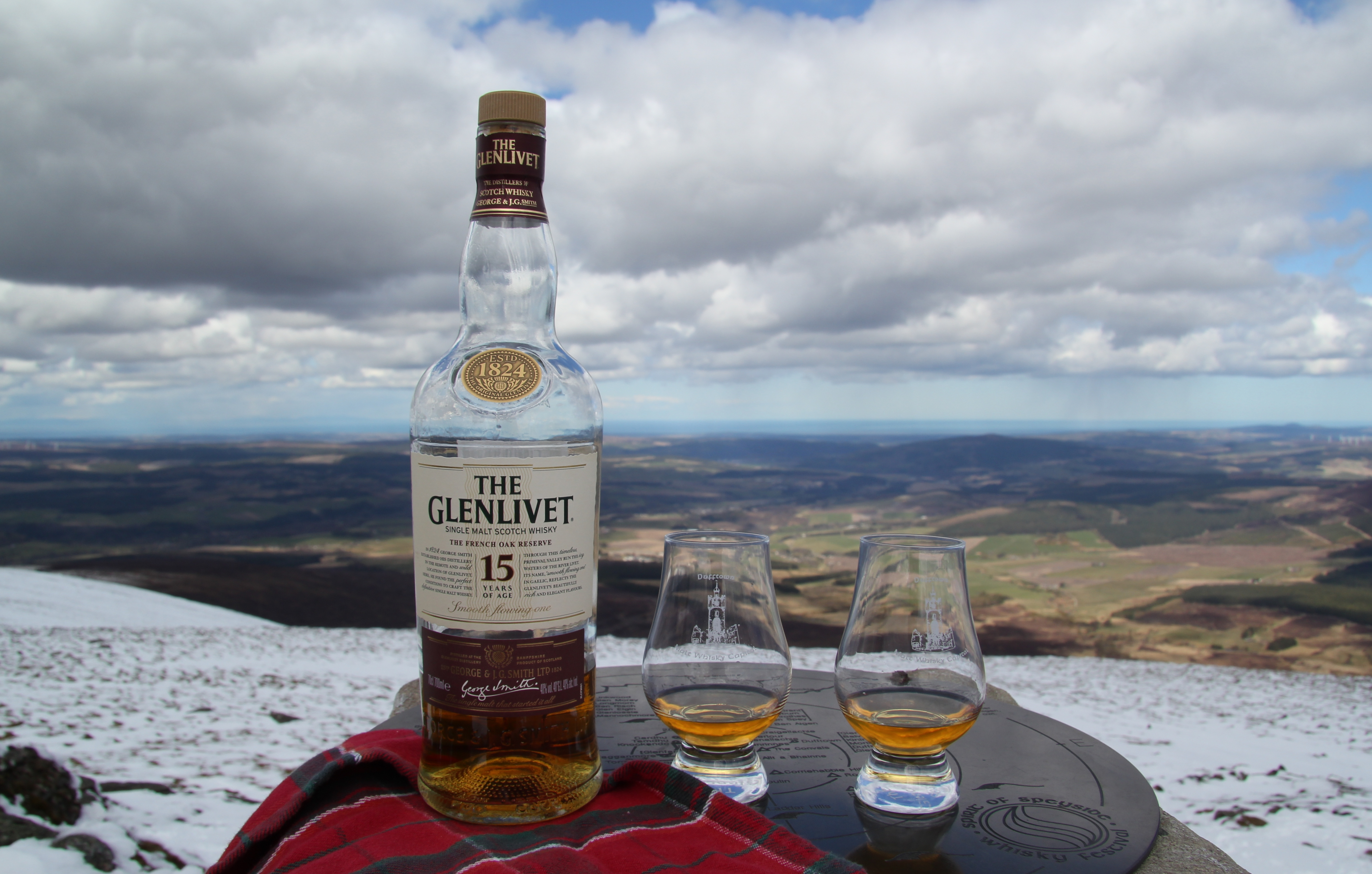 Spirit of Speyside Whisky Festival wee dram at the top of Ben Rinnes
