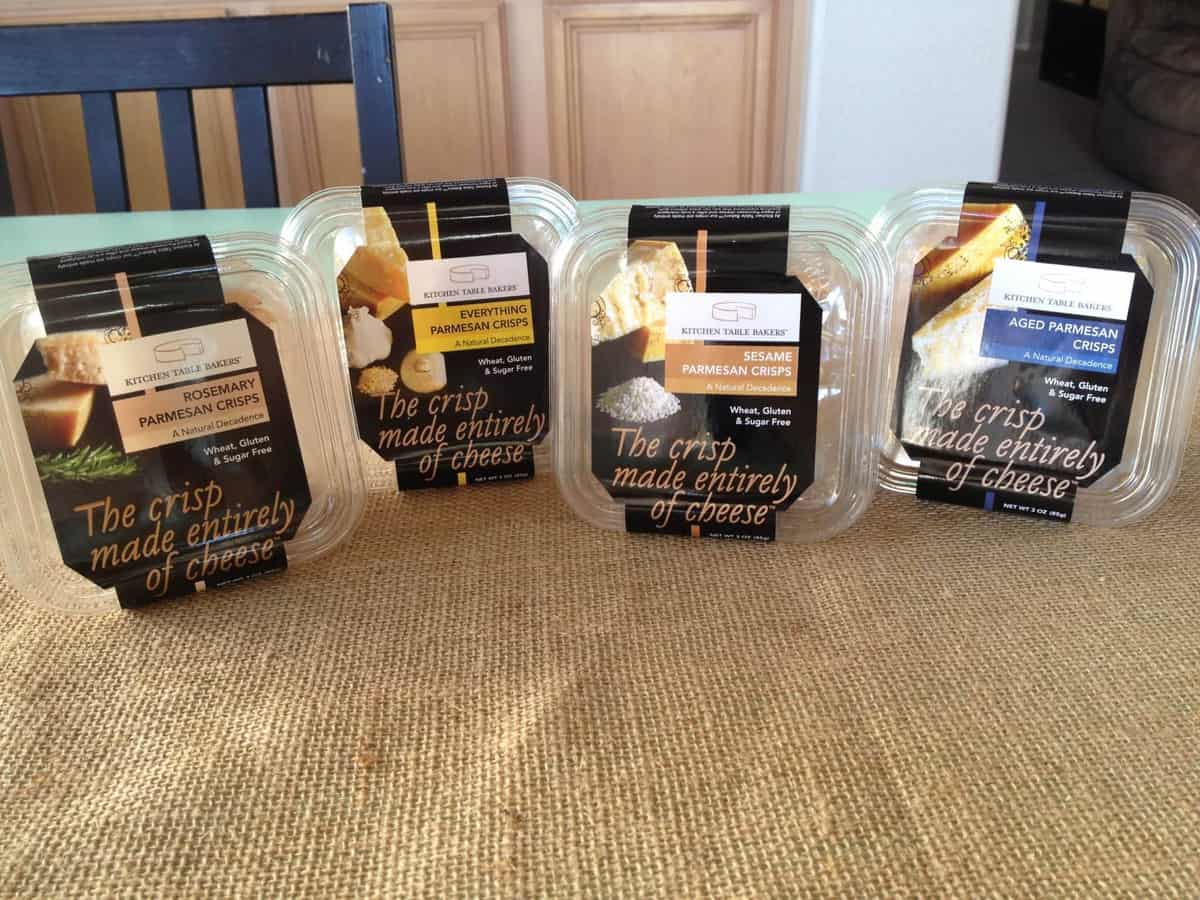 kitchen table bakers feature and giveaway kitchen table bakers Oh my goodness I have found a new favorite snack in our house I had the great opportunity of trying the line of parmesan crisps from Kitchen Table Bakers
