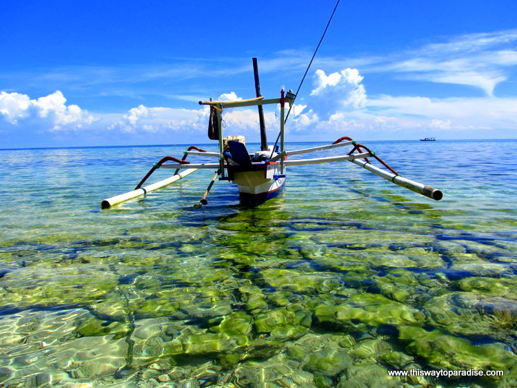Boat on Gili Meno, Gili Islands