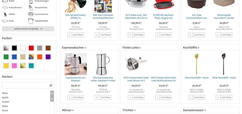Netzshopping - Küchengeräte Küchenwerkzeug