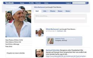 Facebook Profil Silvio Berlusconi