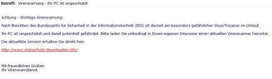 SPAM E-Mail Abzocke