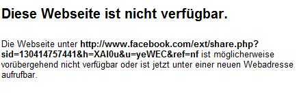 Facebook Error Share