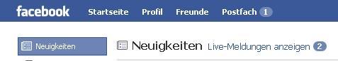 neuer Facebook News Feed