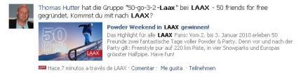Applikationsseite Laax