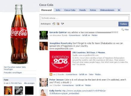 Facebook Fanpage Coca Cola