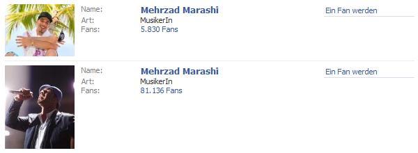 Mehrzad Marashi Fanpages