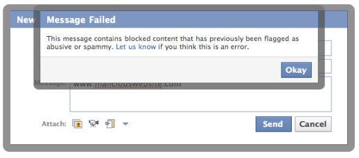 Warnmeldung bei blockierten Inhalten