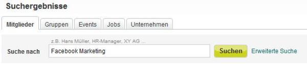 XING Suchergebnisse