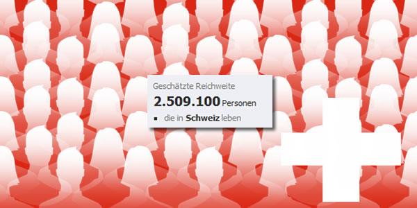 Facebook Schweiz 2.5 Mio Benutzer