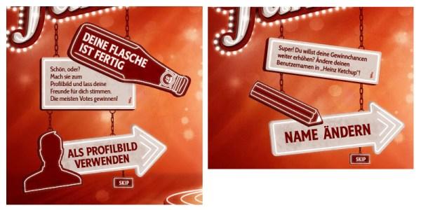 """Heinz """"Name for Fame"""" Aufforderung zum Verstoss gegen FB Richtlinien"""