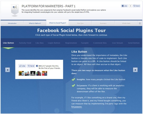 Platform for Marketers - Part 1 - What are Social Plugins