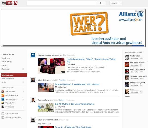 YouTube Schweiz