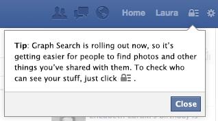 Hinweis auf die Privatsphäre der Graph Search (Quelle: Facebook.com)