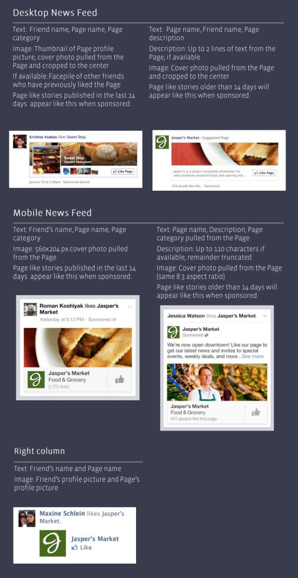 Facebook Page Like Sponsored Story