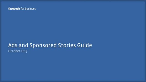 Ads and sponsored Stories Guide Oktober 2013