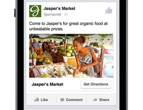 """Beispiel einer """"Local Awareness"""" Werbeanzeige (Quelle: Facebook)"""