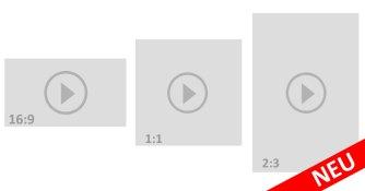 16:9 - 1:1 - und neu: 2:3 Videoformat auf Facebook