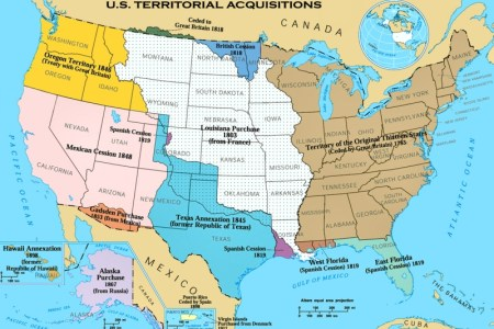 map of american expansion