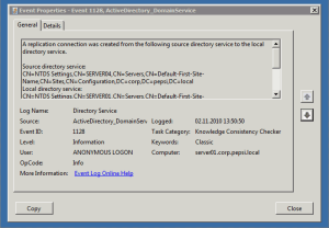 Windows Server 2008 R2 AD Replication