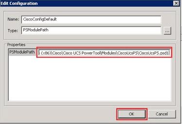 Cisco UCS Integration Pack Orchestator PowerTool Path