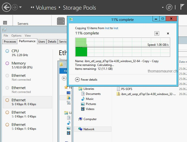 Windows Server 2012 SMB Direct RDMA Copy