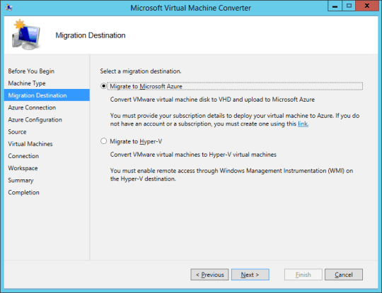 MVMC3 migrate to Hyper-V or Azure