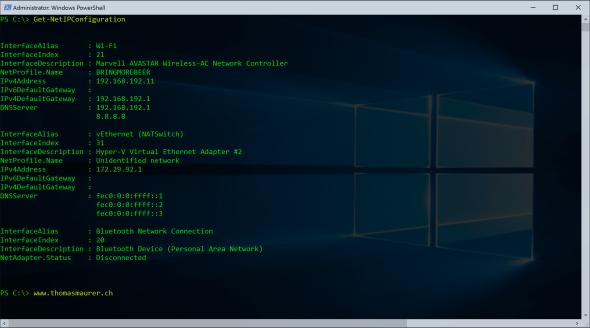 Get-NetIPConfiguration
