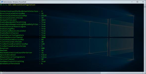 SMB PowerShell SMB Client Configuration
