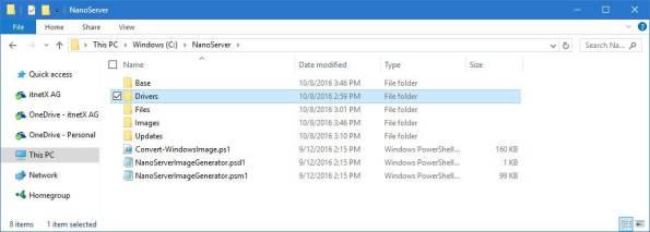 Nano Server Folder