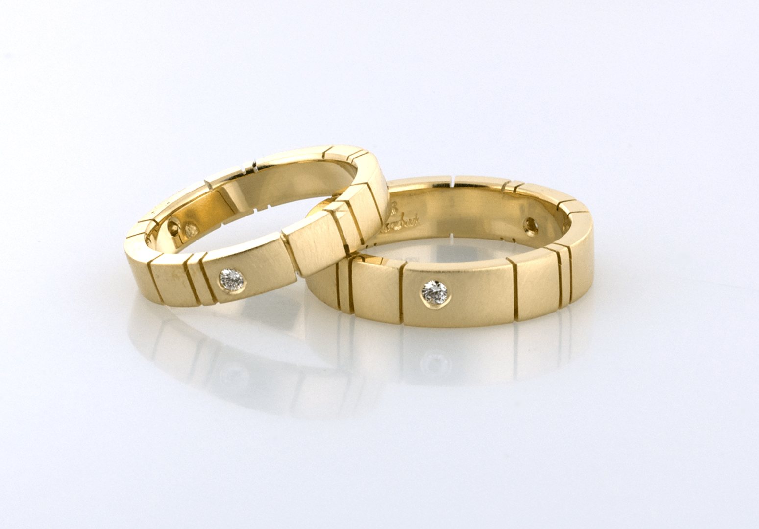 gold wedding bands diamond accents r gold wedding bands Click here for purchase or inquiry 14KT yellow gold bands