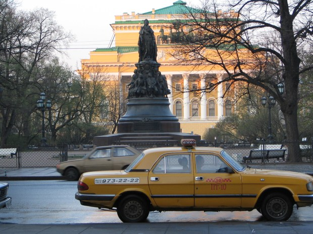 It's always safer to take an official taxi in Russia.