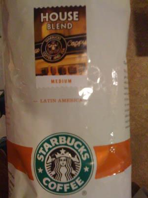 photo of Starbucks House Blend package