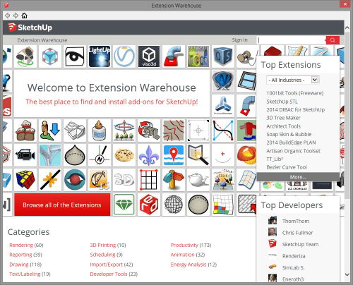 ExtensionWarehouse