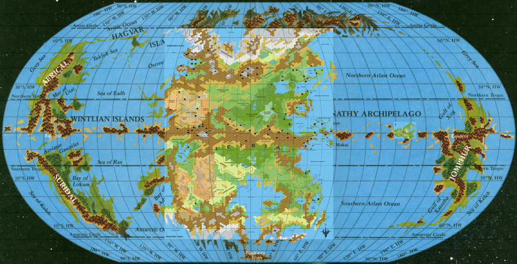 Final placements for the hex maps on the world map