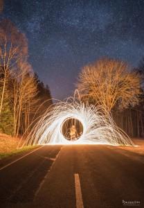 Lightpainting -Sternenhimmel - von Thorsten Fritz