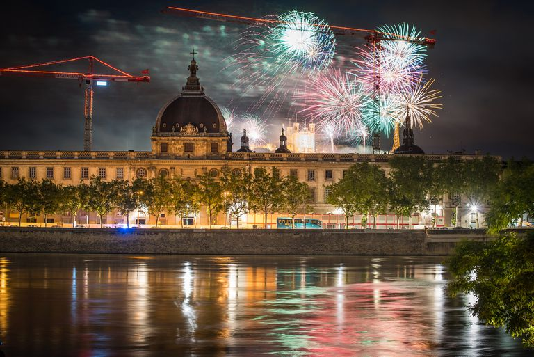 Facts About the Bastille Day Holiday in France Bastille Day Fireworks in Lyon  France