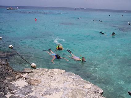 Snorkeling in Cozumel, Mexico