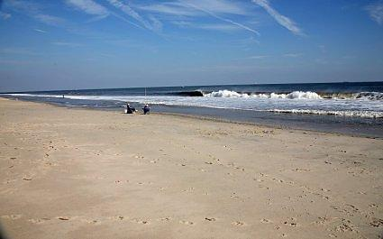 Fishing at the Sandy Hook on the Jersey Shore