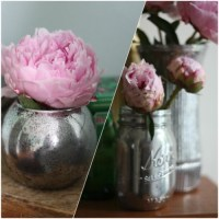 Pinterest Inspired Craft - Green Looking Glass Vases
