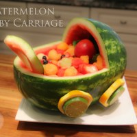 Pinterest Inspired Watermelon Baby Carriage