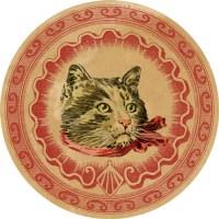DGD – Digital Goodie Day – Vintage Kitten Sticker #3