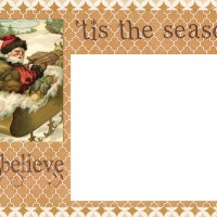 Digital Goodie Day – Tis The Season Christmas Card Template