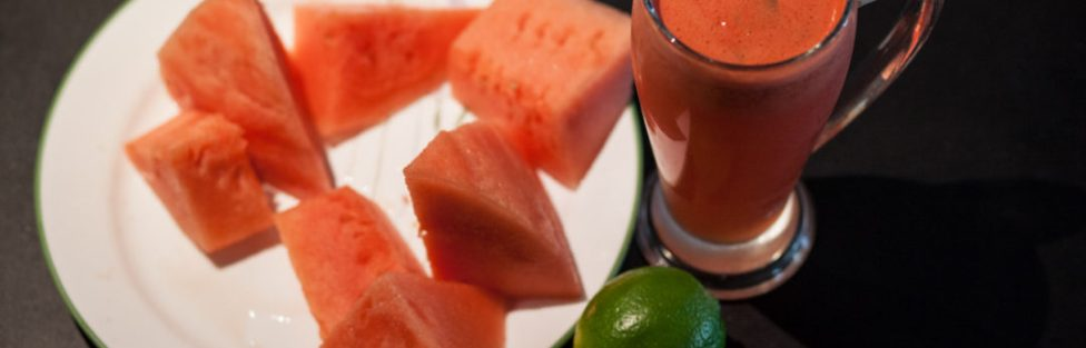 Watermelon and Basil Juice