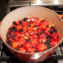 Red berry compote