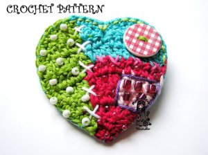 crochet heart pattern on etsy from VendulkaM