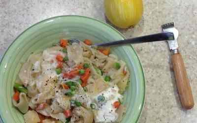 Christmas Meal Plan – HM pasta, cream, mixed veg, mustard 30p