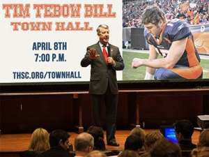 Town Hall Meeting for Your Tebow Bill Concerns