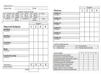 Homeschool report card template