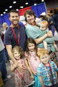 homeschool family attending THSC Convention